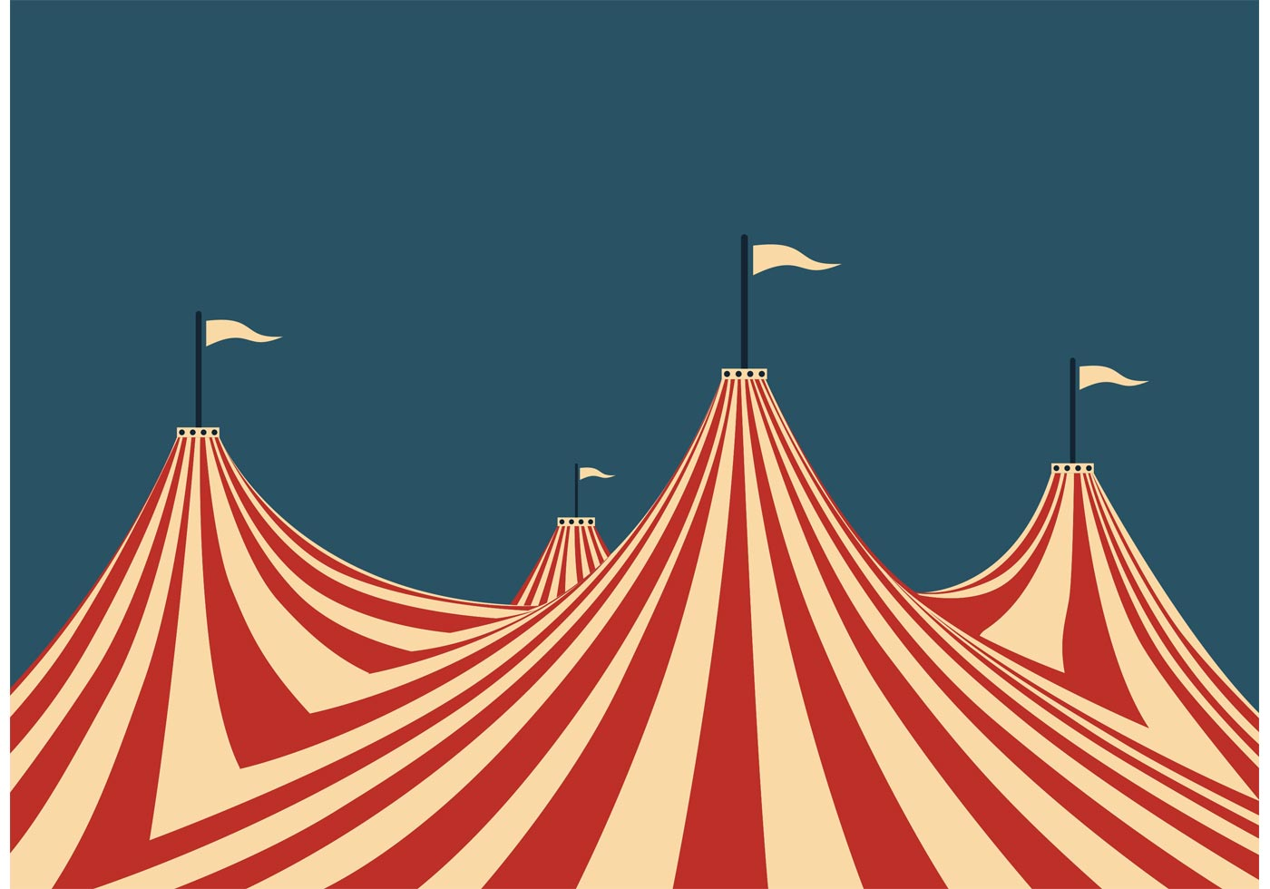 Big Top Tent Free Vector Art.