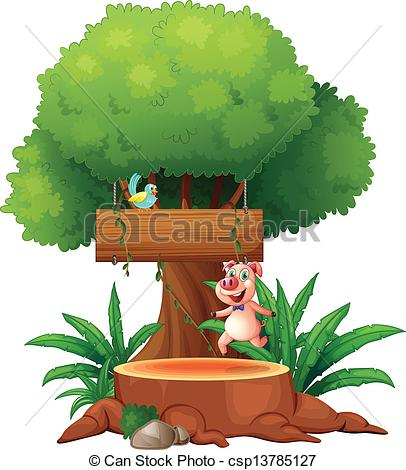 Clipart of a giant tree.