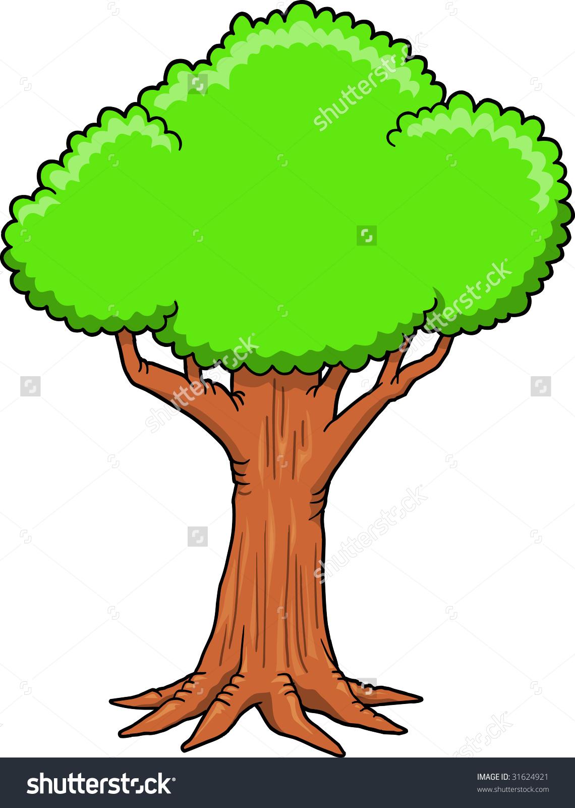 Big Tree Vector Illustration Stock Vector 31624921.