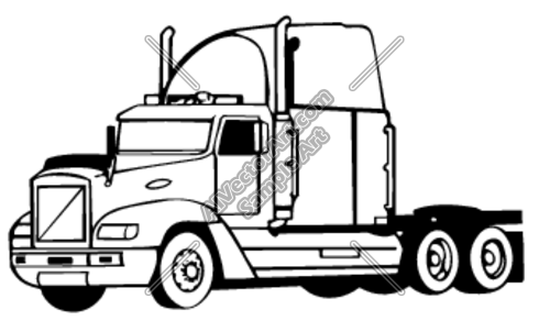 Big Truck Clipart Black And White.