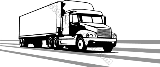 Free Semi Truck Clipart Black And White, Download Free Clip.