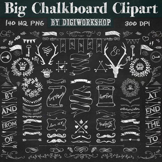 Chalkboard Clipart.
