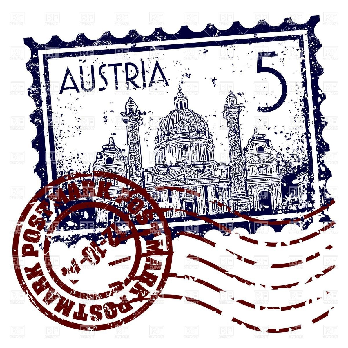 Postage stamp with postmark.