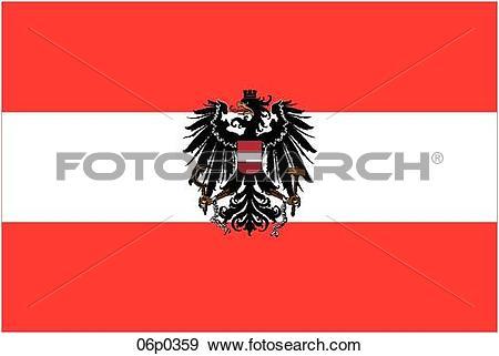 Clip Art of austria flag 06p0359.