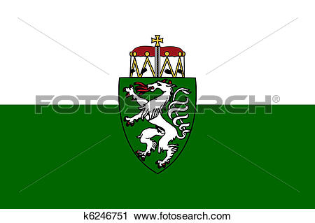 Clipart of Steiermark or Styria state flag in Austria k6246751.
