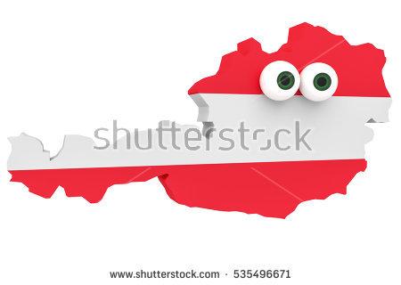 Austrian Map Stock Photos, Royalty.