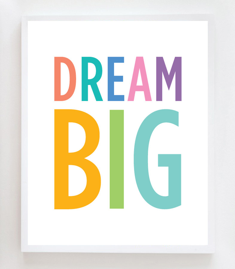 Dream big clip art.