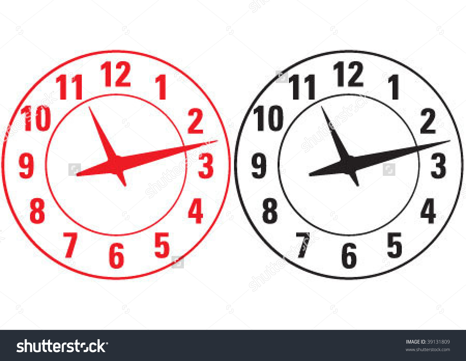 The Big Wall Watch Classic Stock Vector Illustration 39131809.