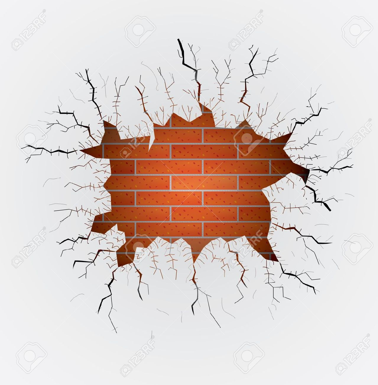 Broken wall clipart.