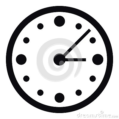 A Big Wall Clock Vector Stock Illustration.