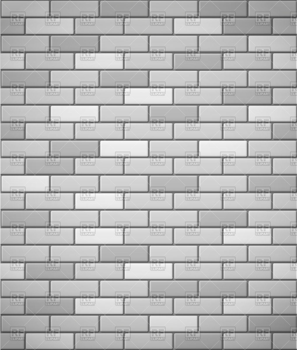 White brick wall clipart.