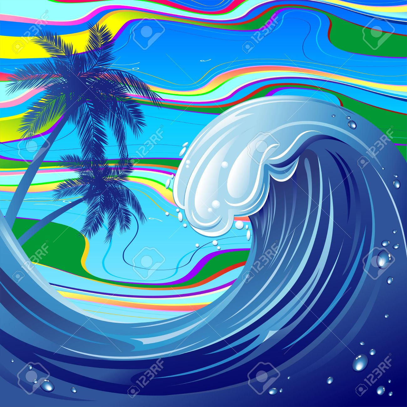 Sea Ocean Big Wave Water Royalty Free Cliparts, Vectors, And Stock.