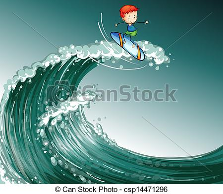 Big wave surfing Clip Art Vector and Illustration. 884 Big wave.