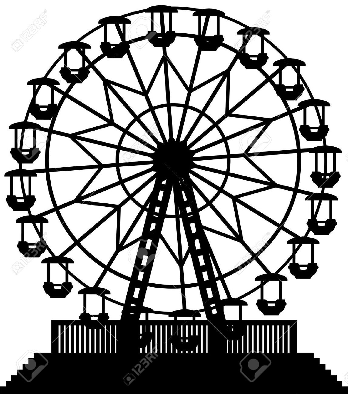 Ferris Wheel Royalty Free Cliparts, Vectors, And Stock.