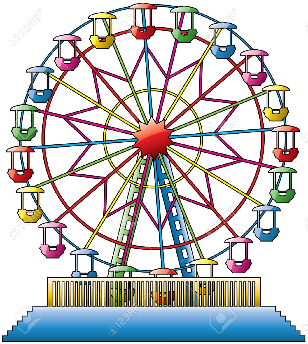 Ferris wheel car clipart.