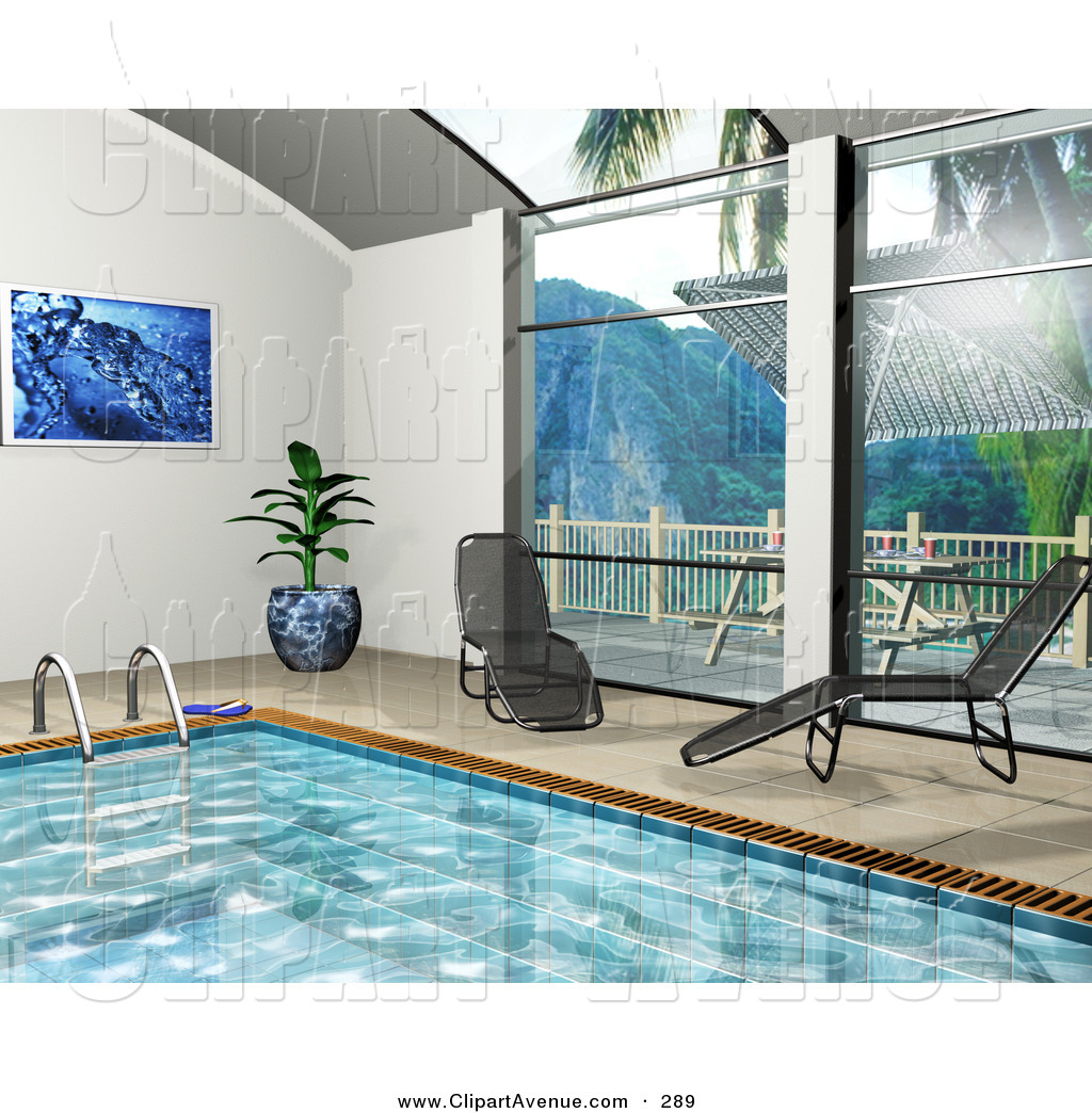 Indoor Swimming Pool Clipart