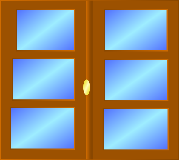 Large house windows clipart.
