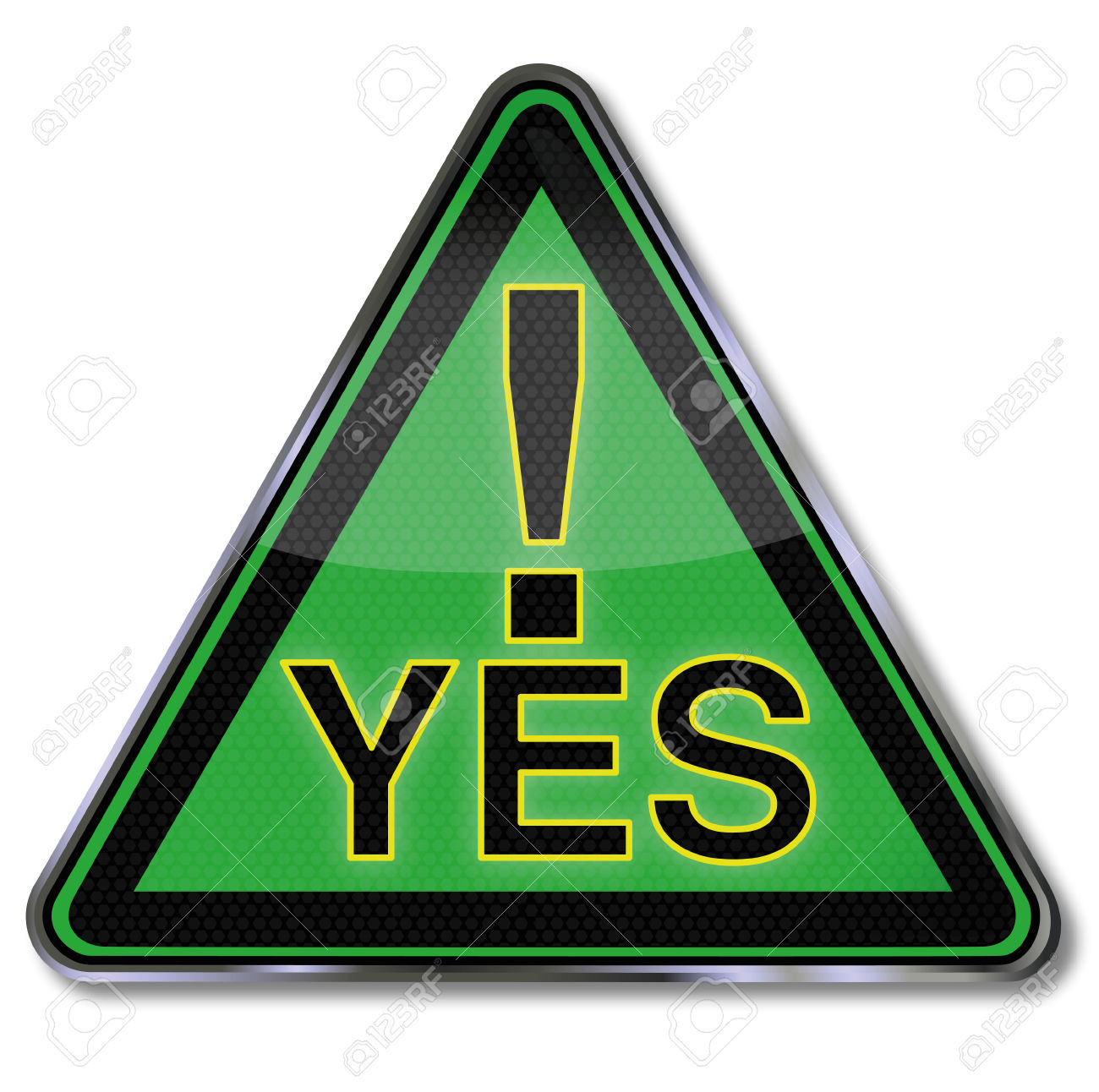 Green Sign With A Big Yes Royalty Free Cliparts, Vectors, And.