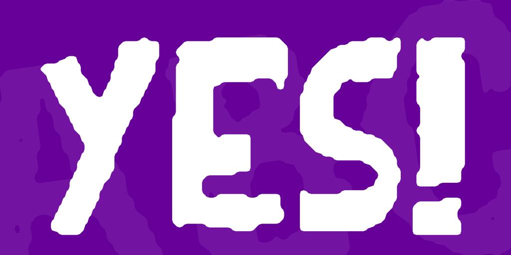 YES! Font · 1001 Fonts.