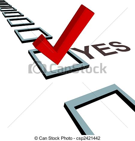 Vote Yes Clipart.
