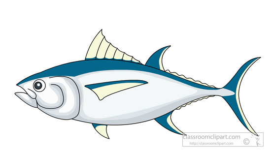 Yellowfin tuna clipart.
