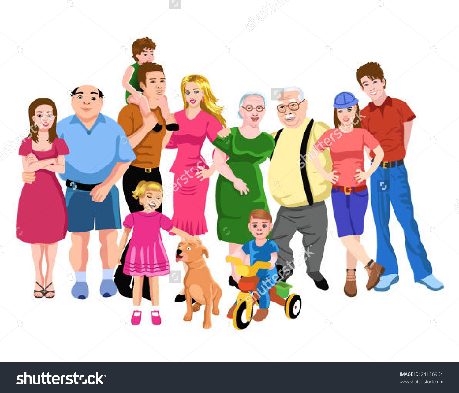 One Big Family Clipart.