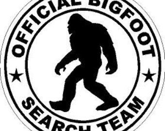 Bigfoot Sasquatch Silhouette Clipart.