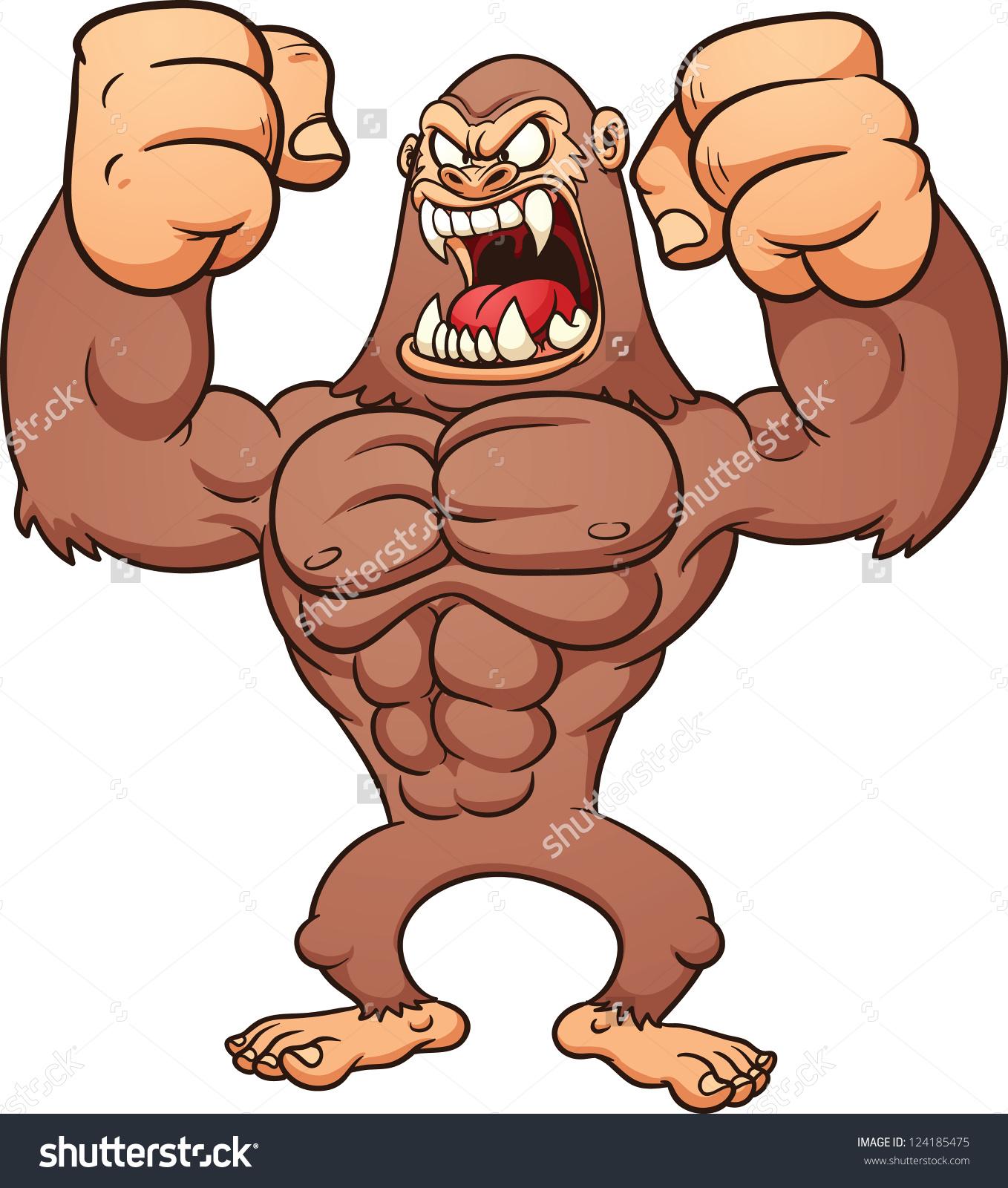 Angry Bigfoot Vector Clip Art Illustration Stock Vector 124185475.