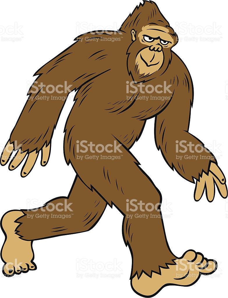 Cartoon Bigfoot stock vector art 165676282.