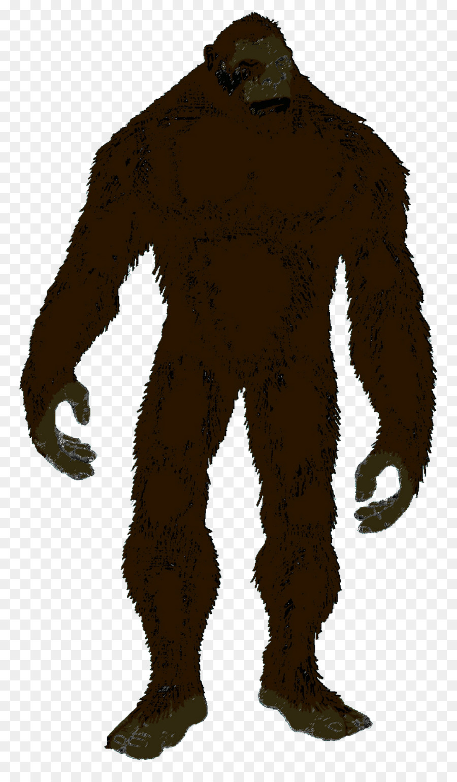 Bigfoot Silhouette Black and white Clip art.