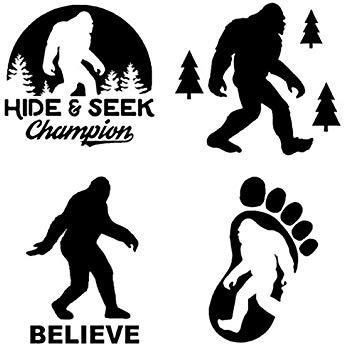 Amazon.com: Yeti Bigfoot Footprint Sasquatch Vinyl Decal Sticker for.