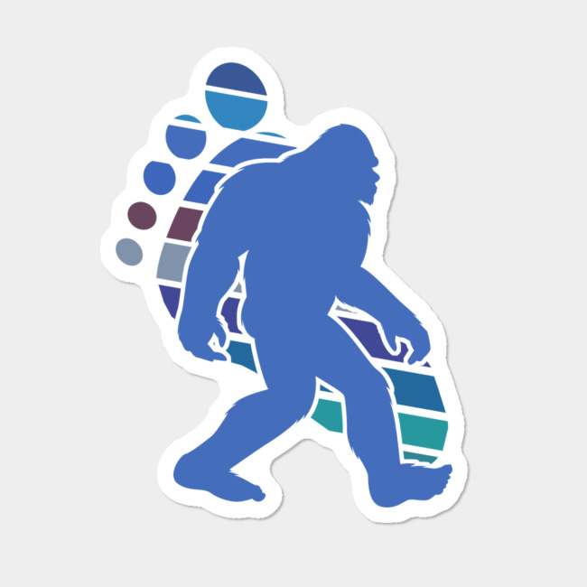 Funny Bigfoot Footprint Sasquatch Gift Silhouette Novelty Gift Sticker By  MintedFresh Design By Humans.