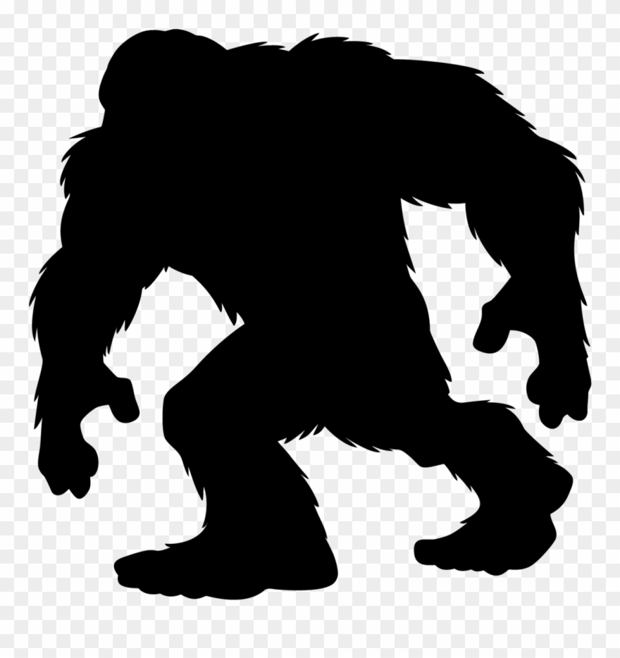 Walking Bigfoot Silhouette Sticker.