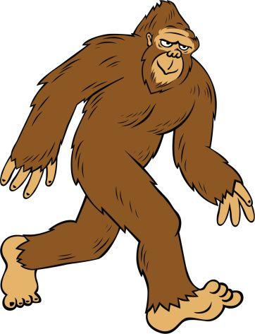 Pretty Bigfoot Clipart cartoon bigfoot vector art ty images.