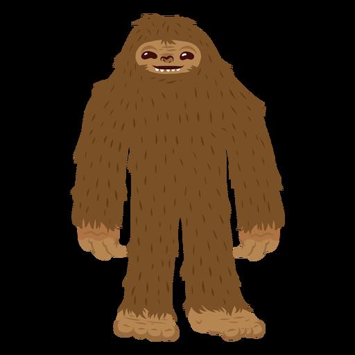 Bigfoot standing cartoon.