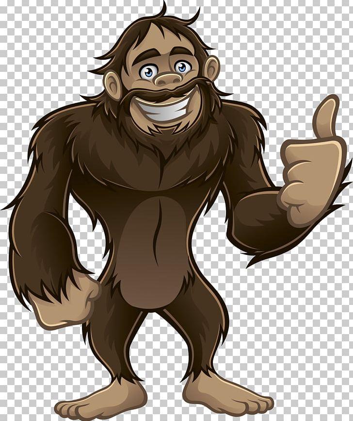 Bigfoot Art PNG, Clipart, Art, Bear, Carnivoran, Cartoon, Drawing.