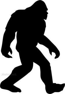 Image result for bigfoot silhouette.