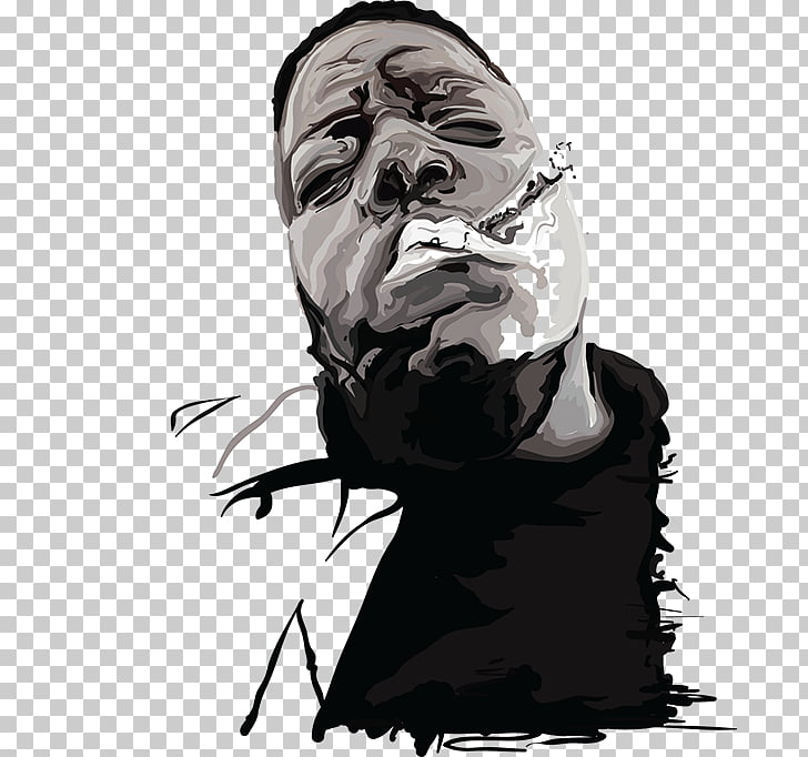 Drawing Visual arts, biggie smalls PNG clipart.