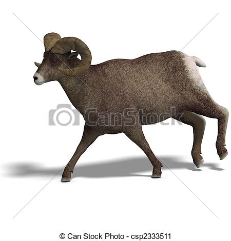 Clipart of big horn sheep aries.