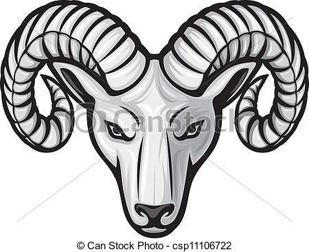 Ram horn clipart.