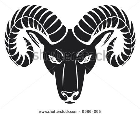 head of the ram (ram head) Shutterstock Image.