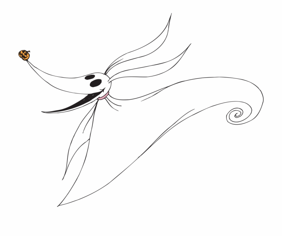 Transparent Background Nightmare Before Christmas Zero Clipart.