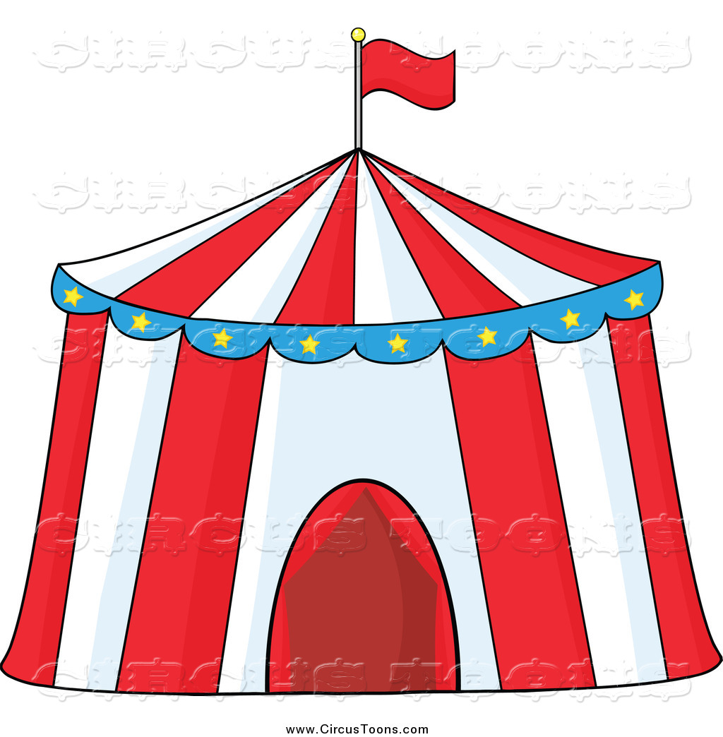 Circus Clipart of a Big Top Tent by Hit Toon.