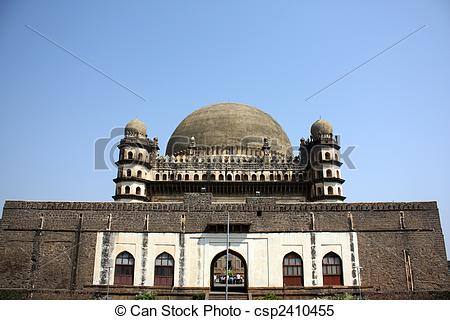 Stock Images of Gol Gumaz in Bijapur.