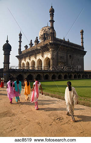Stock Photograph of Tomb of Ibrahim Rauza in city of Bijapur in.
