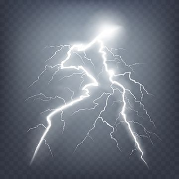 Lightning And Thunder PNG Images.