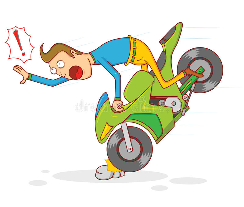 Motorcycle Accident Stock Illustrations.