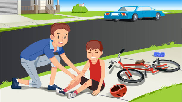 Best Bike Crash Illustrations, Royalty.