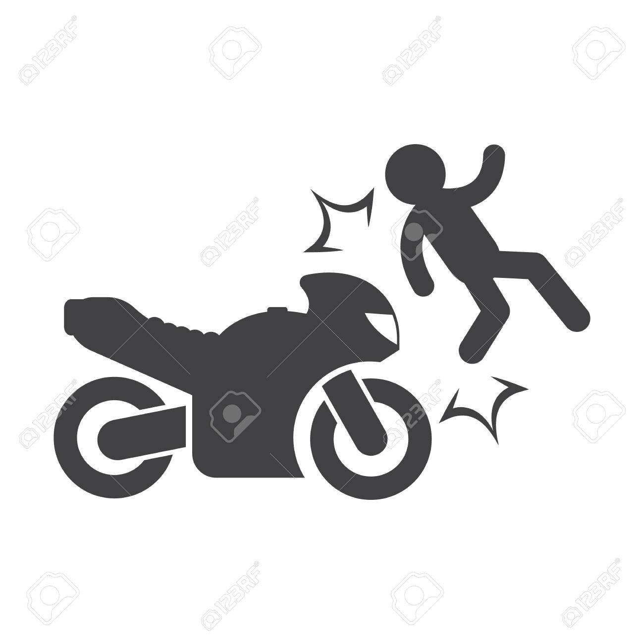 Motorcycle Wreck Clipart & Free Clip Art Images #19312.