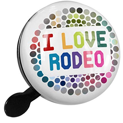 Amazon.com : NEONBLOND Bike Bell I Love Rodeo, Colorful.